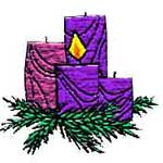 Advent wreath badge