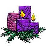 Advent 2 wreath badge