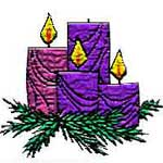 Advent 3 wreath badge
