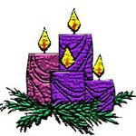 Advent 4 wreath badge