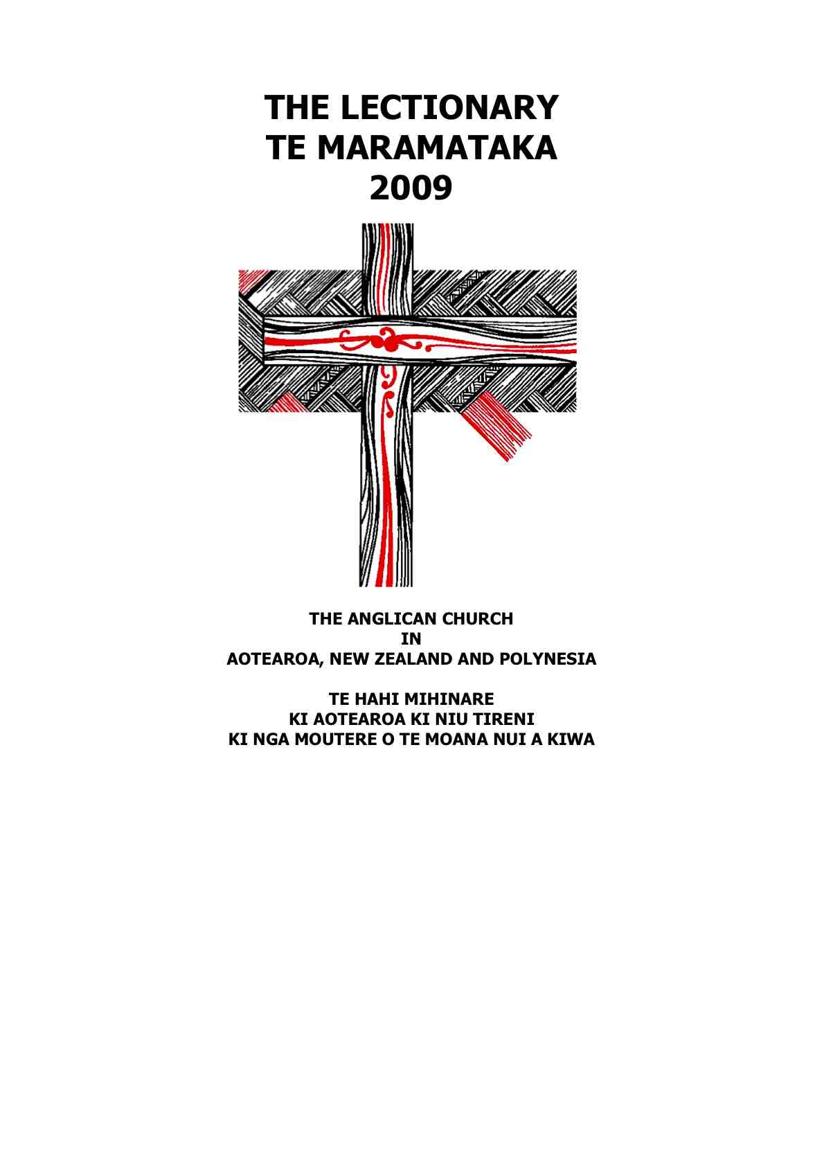 NZ Anglican Lectionary online