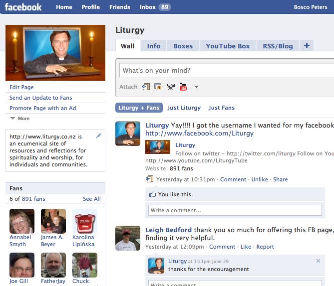 Facebook Liturgy page
