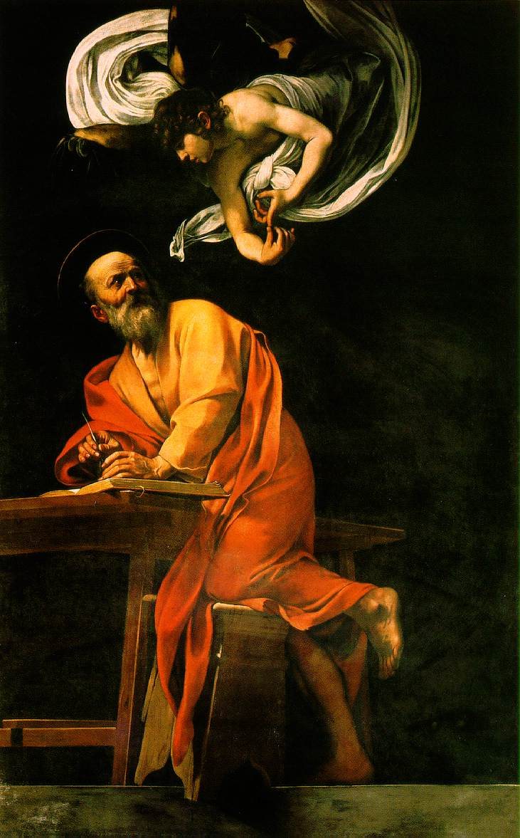 The Inspiration of Saint Matthew by Caravaggio