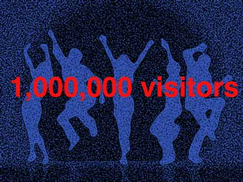 a million visitors