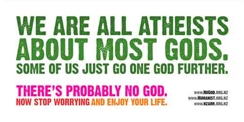 We are all atheists?