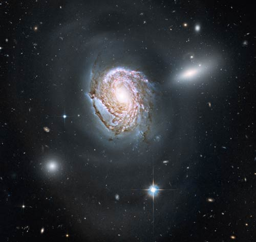 Coma Cluster spiral galaxy