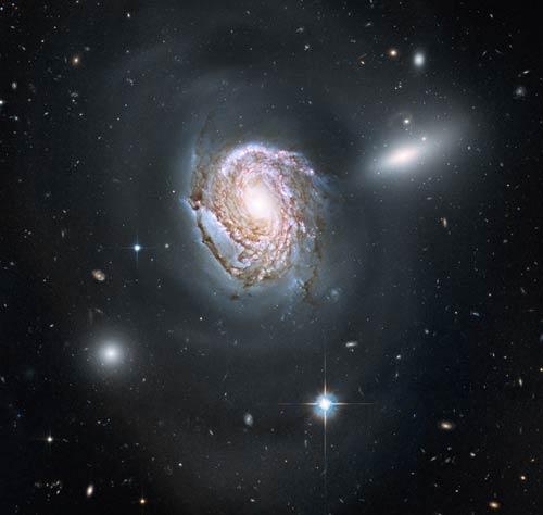 Coma Cluster spiral galaxy