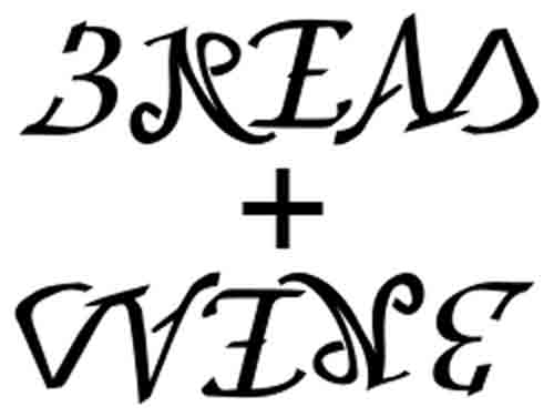 bread and wine ambigram