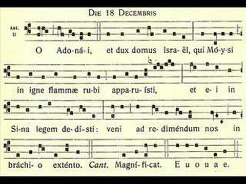 O Adonai – O Lord of might – 18 December