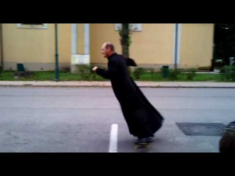skateboarding priest sensation