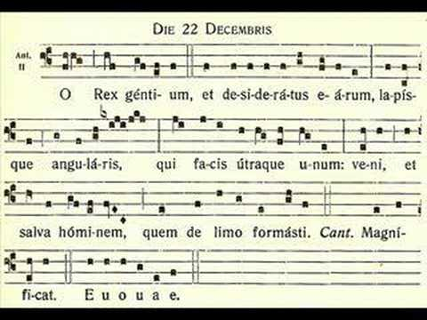 O Rex Gentium – O sovereign of the nations – December 22