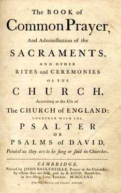 Book of Common Prayer 350 years