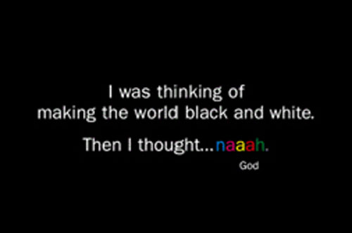 God black and white