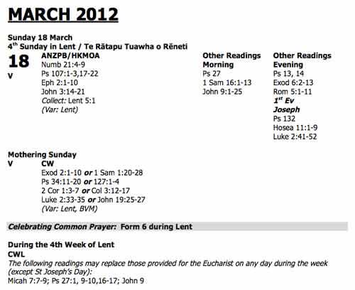 Lent 4 confusion