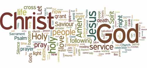 Wordle of Sacred Triduum rites