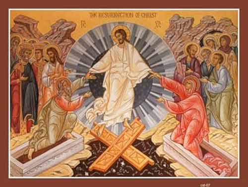 Alleluia! Christ is risen.