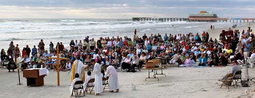 Easter Sunrise Beach Mass