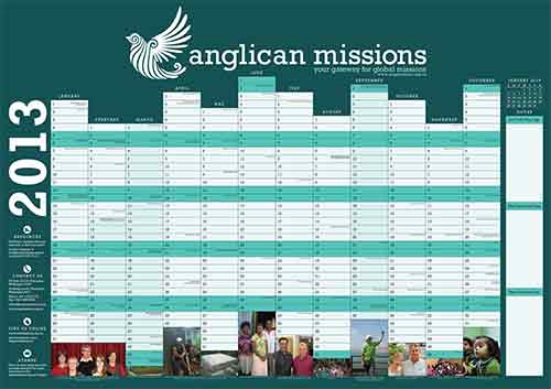 Anglican Church of Or 2013 calendar