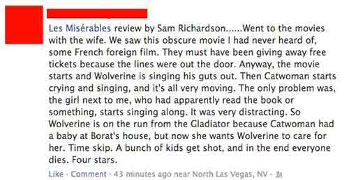 review of Les Miserables