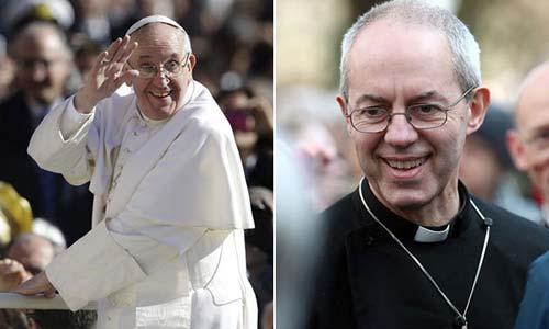 Pope Francis Archbishop Justin