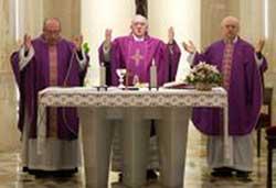 Pope presiding at Mass