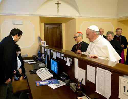 Pope pays hotel bill