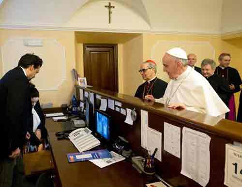 Pope pays hotel bill