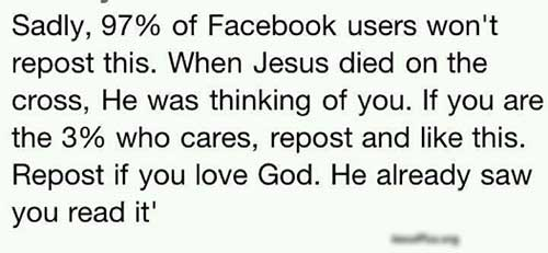 "Jesus died for your ""likes"""