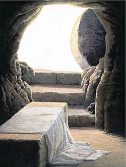 On the third day he rose again