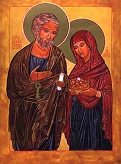 St Peter and spouse