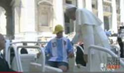 Pope shares chair