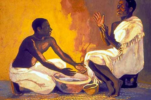Jesus Mafa Foot Washing