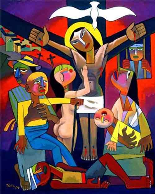 Crucifixion by He Qi