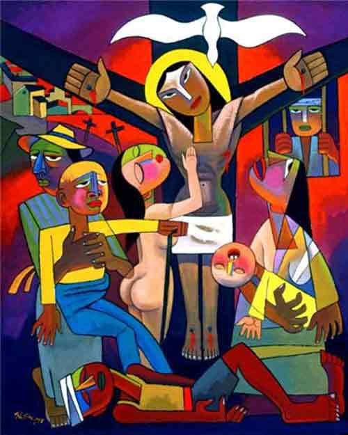 Crucifixion by He Qi