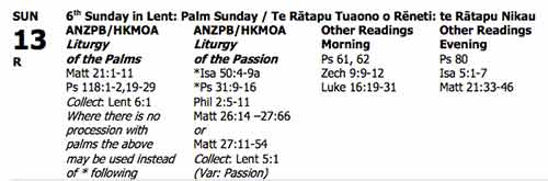 Palm Sunday Readings