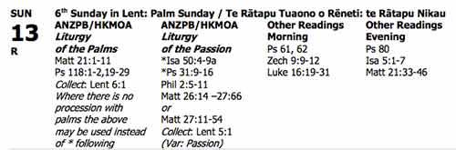 Palm Sunday Readings