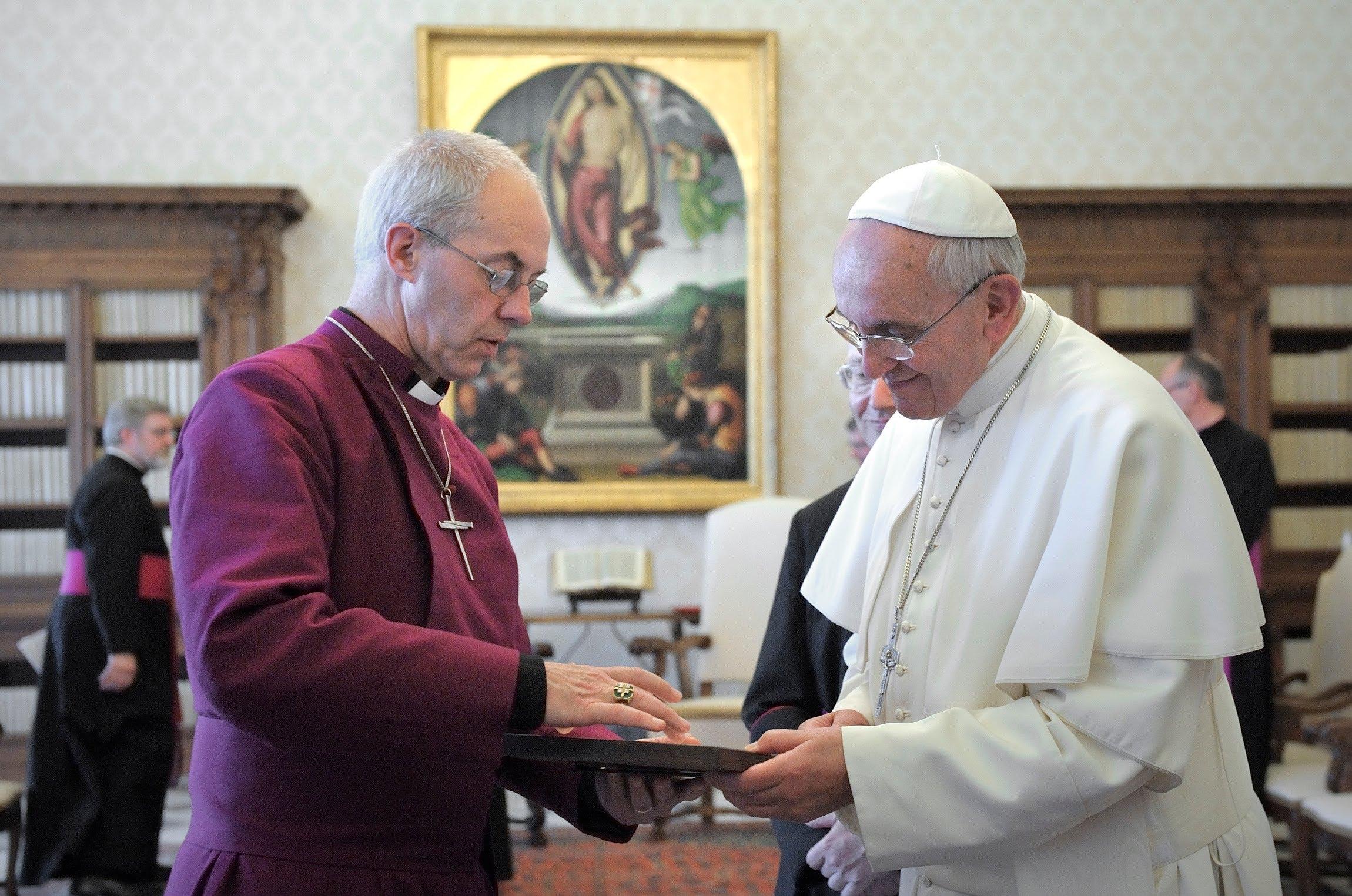 Archbishop Justin Meets Pope Francis
