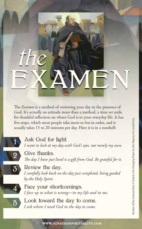 The Examen of Saint Ignatius