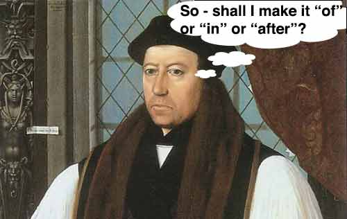 Thomas Cranmer of or in or after