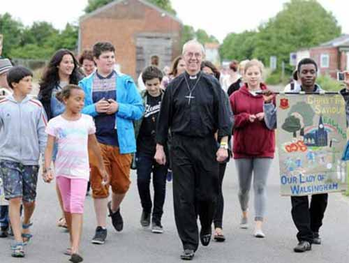 Archbishop Justin Welby and young people