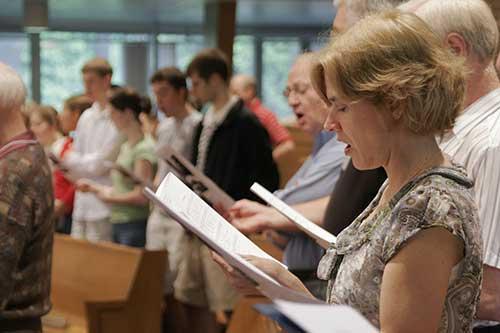 Singing At Worship