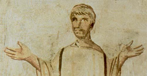 Orans on Roman Mural