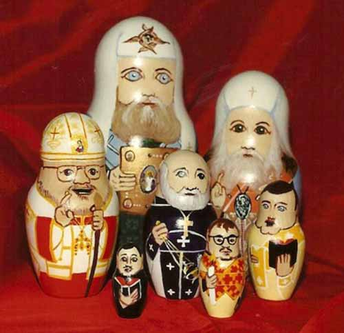 nesting clergy dolls