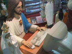 Jesus on a desktop