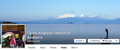 Taupo Anglican Parish Facebook Page