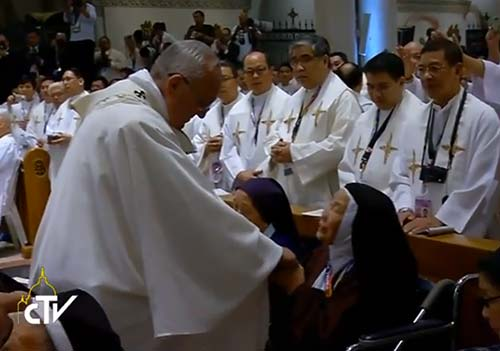Pope Francis Interprets Sign of Peace Rule