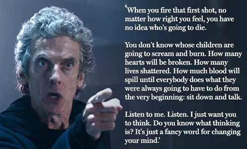 Dr Who on Violence