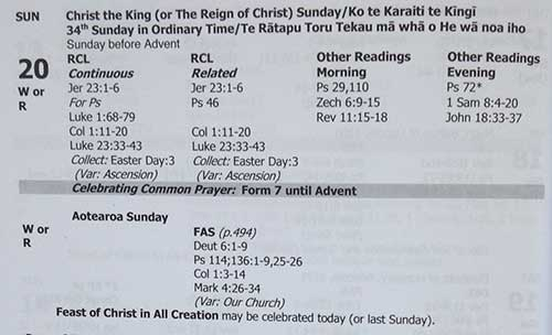 NZ Lectionary