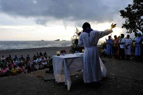 A beach Eucharist