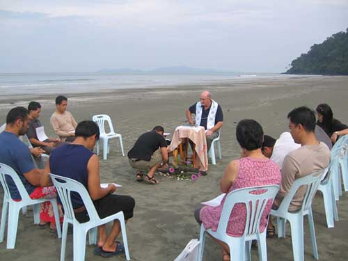 Eucharist on the beach